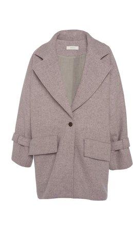 Áeron Aeron Henrietta Wide Lapel Wool Coat