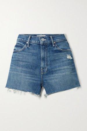 The Dutchie Distressed Denim Shorts - Mid denim