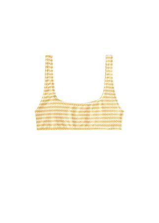 MANGO Striped bikini top