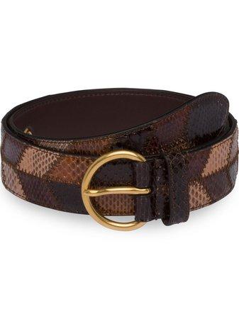 Miu Miu snakeskin belt
