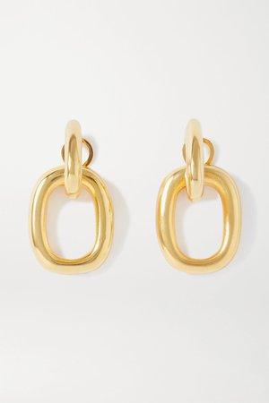 Gold Gold-tone earrings | Kenneth Jay Lane | NET-A-PORTER