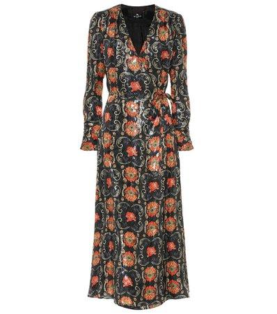 Etro - Printed silk-blend crêpe midi dress | Mytheresa