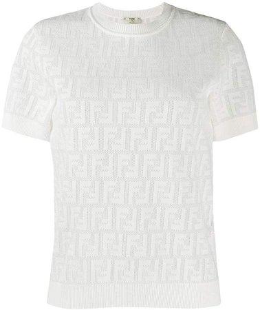 FF motif knit top