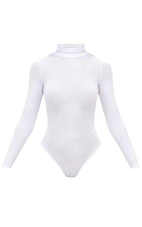 White Turtleneck Bodysuit