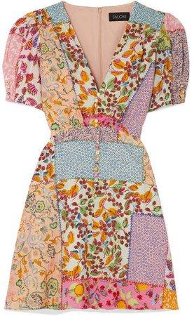 Lea Printed Cotton-blend Seersucker Mini Dress - Pink