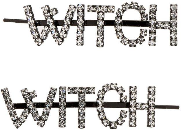 Ashley Williams: Transparent 'Witch' Hair Clip Set   SSENSE