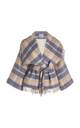 Harrison Plaid Twill Wrap Jacket By Loveshackfancy   Moda Operandi