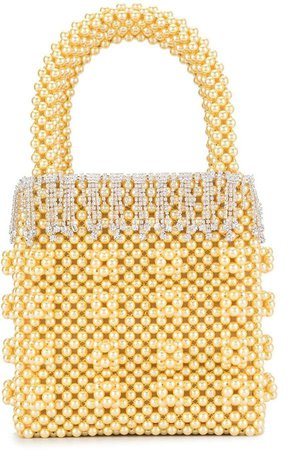 Huckleberry faux pearl tote bag