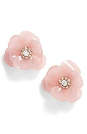 kate spade new york slice of stone flower stud earrings | Nordstrom