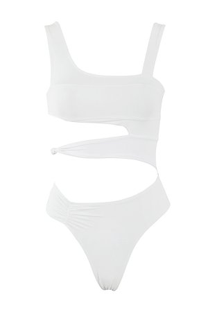 House of CB | ARABIA WHITE PANELLED ONE PIECE SWIMSUIT