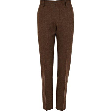 brown suit pants
