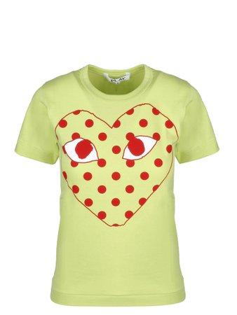 Comme des Garçons Play Polka Logo T-shirt