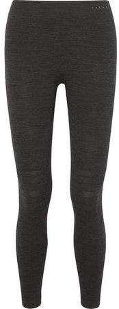 Ergonomic Sport System - Technical Stretch Wool-blend Leggings - Black