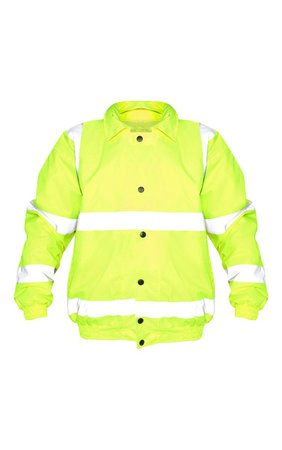 Neon Yellow High Vis Coat | Coats & Jackets | PrettyLittleThing USA