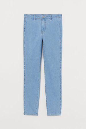 Skinny High Ankle Jeans - Blue