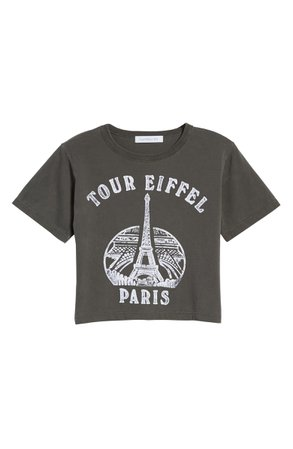 Daydreamer Tour Eiffel Rebel Crop Graphic Tee | Nordstrom