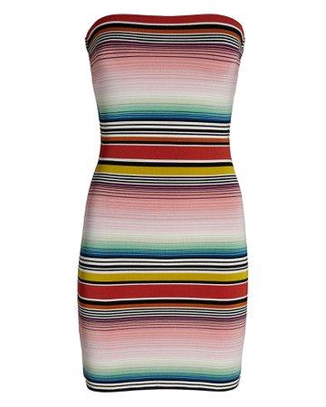 Missoni Mare Striped Strapless Mini Dress | INTERMIX®
