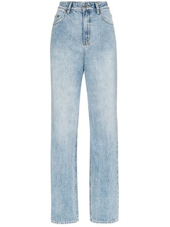 Ksubi Playback High-Waisted Straight Leg Jeans Ss20 | Farfetch.com