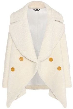 Burberry Shearling Pea Coat by Burberry