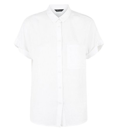 Off White Pocket Front Short Sleeve Shirt | New Look