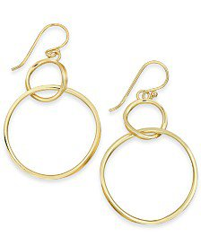 Essentials Bar & Circle Drop in Fine Silver Plate or Gold Plate Earrings & Reviews - Earrings - Jewelry & Watches - Macy's