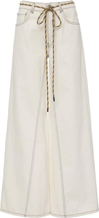 Top-Stitched High-Rise Wide-Leg Jeans