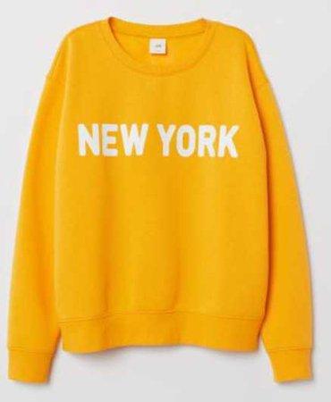 Yellow New York Crewneck