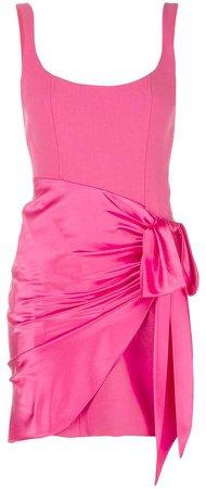 draped bustier dress