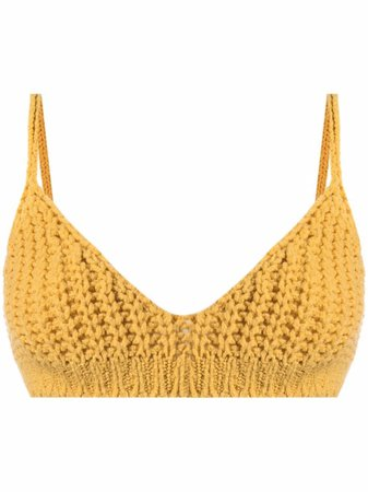 Alanui Knitted Bralette Top - Farfetch