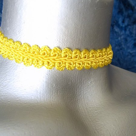 yellow necklace ribbon