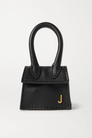 Black Le Chiquito micro textured-leather tote | Jacquemus | NET-A-PORTER