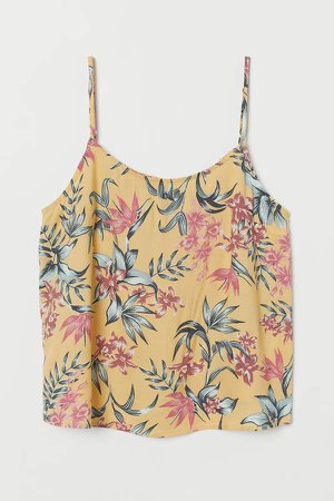 Patterned Camisole Top - Yellow