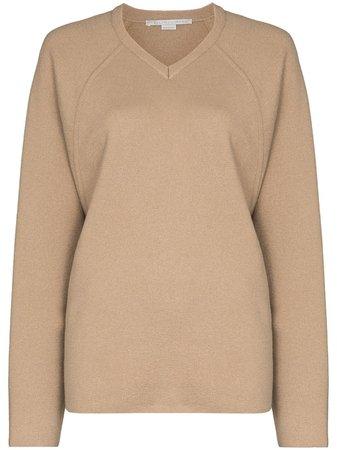 Stella McCartney V-neck fine-knit Jumper - Farfetch