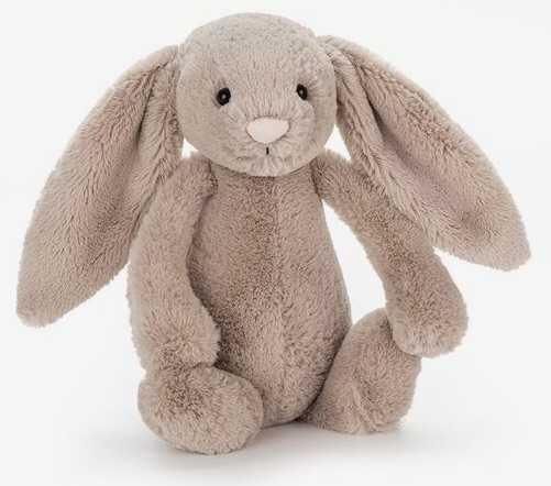baby toy stuffed animal bunny rabbit brown tan beige light pale filler kid child children