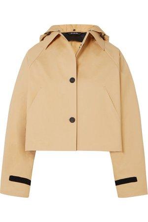Kassl Editions | Cropped cotton-blend shell jacket | NET-A-PORTER.COM