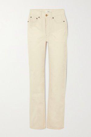 Ecru High-rise straight-leg jeans | Victoria, Victoria Beckham | NET-A-PORTER