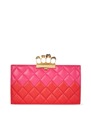 Alexander McQueen | Skull Four Ring Quilted Clutch | INTERMIX®