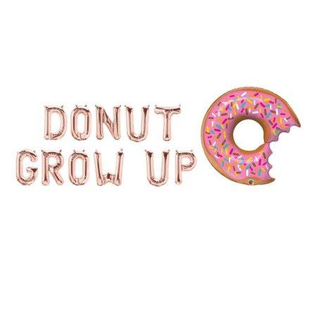 Rose Gold Donut Grow Up Letter BalloonsDonut Grow Up Rose | Etsy