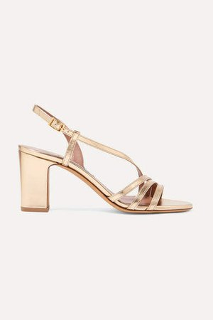 Charlie Metallic Leather Sandals - Gold