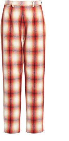 Rosie Assoulin Plaid Wool Pants