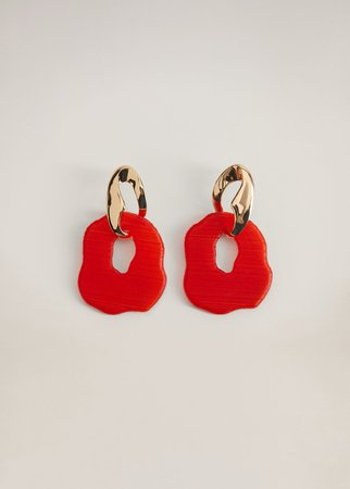 Geometric earrings - Women   Mango USA