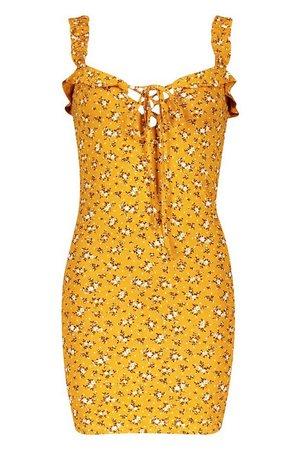 Ditsy Floral Ruffle Mini Sundress | boohoo