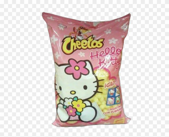 Pink Cheetos Polyvore Moodboard Filler Food Png, 2000s, - Hello Kitty Cheetos, Transparent Png (#1368164) - PikPng