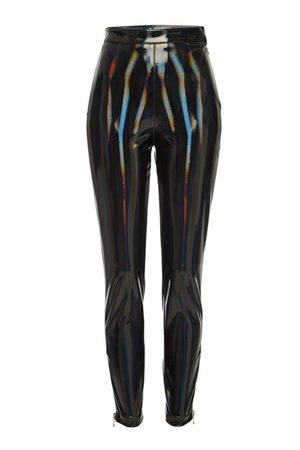 Balmain - Holographic Faux Leather Leggings - Sale!