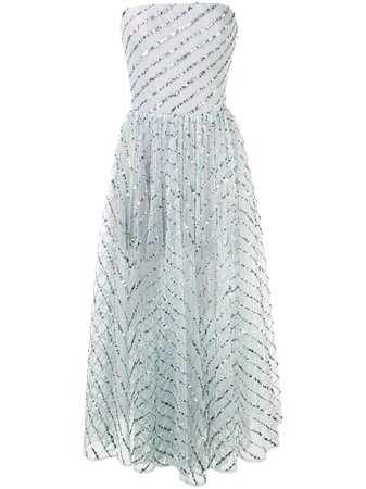 RASARIO Sequinned Tulle Dress - Farfetch