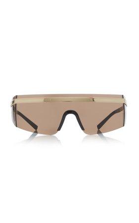 Versace D-Frame Gold-Tone Sunglasses