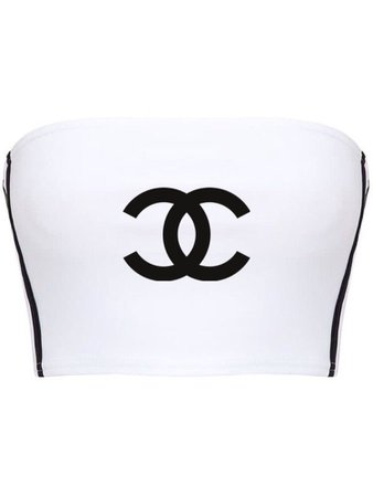 Chanel White Tube Top