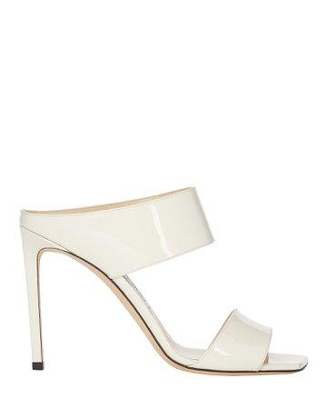 Jimmy Choo | Hira Leather Stiletto Sandals | INTERMIX®