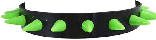 choker neon green black spikes