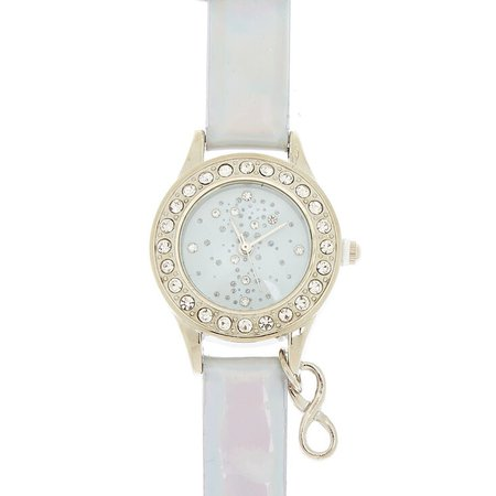 Silver Holographic Classic Watch | Claire's US